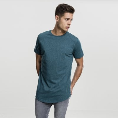 Long t-shirt melange teal front