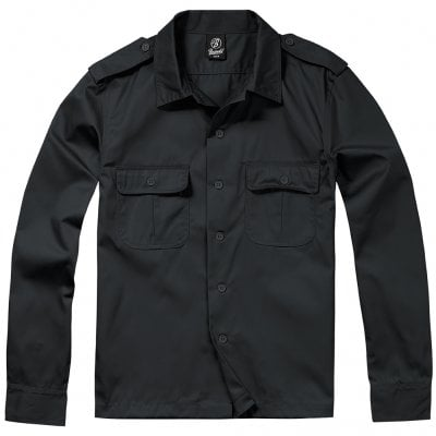 Long sleeve shirt army Black
