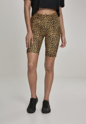 Leopard patterned cycling pants lady