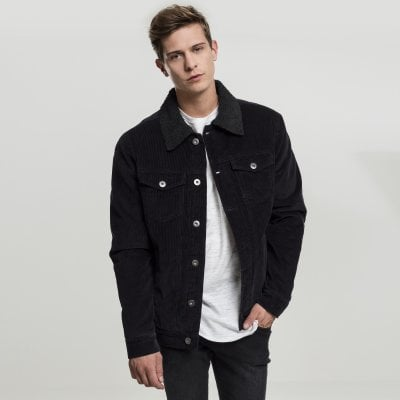 Black Corduroy jacket men front