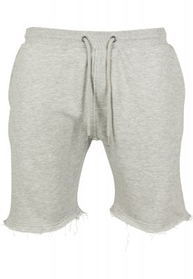 Soft shorts with raw edge