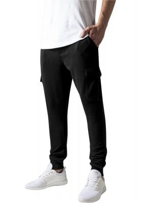 Fitted Cargo Sweatpants black