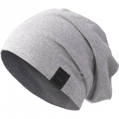 Beanie long and thin heather grey