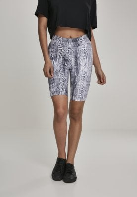 Snake patterned cycling pants lady front