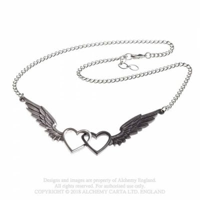 Necklace Wings Of Love black