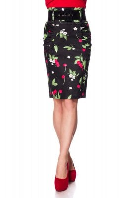 Pencil skirt with cherry