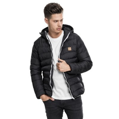 Quilted jacket men black/white front