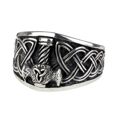 Ring with mjolnir 925 sterling silver 1