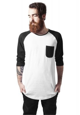 Raglan baseball tee with 3/4 sleeve