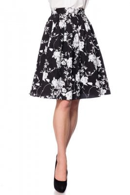 Retro skirt with flowers