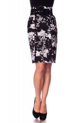 Retro pen skirt black and white