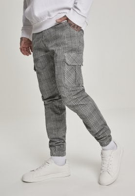 Checkered trousers with side pockets, men profile