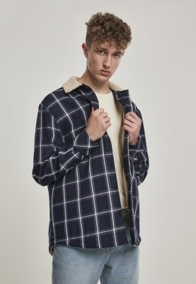 Checkered shirtjacket lined 1