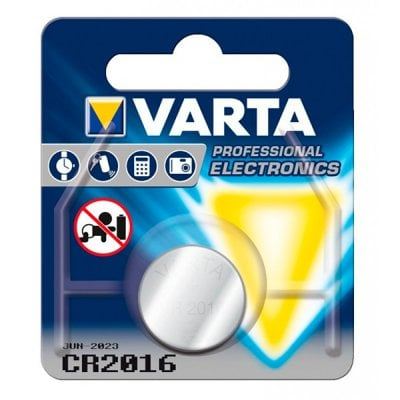 Lithium Button Cell Battery Varta CR-2016 3 V Silver