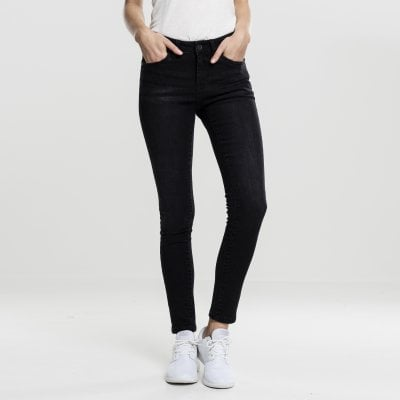 Skinny jeans lady black front