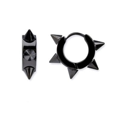 Earrings with rivets black