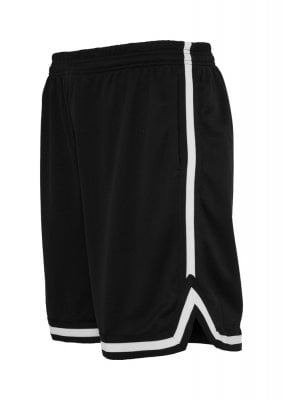 Sporty shorts with stripe mens black white