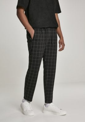 Black and white checkered trousers mens