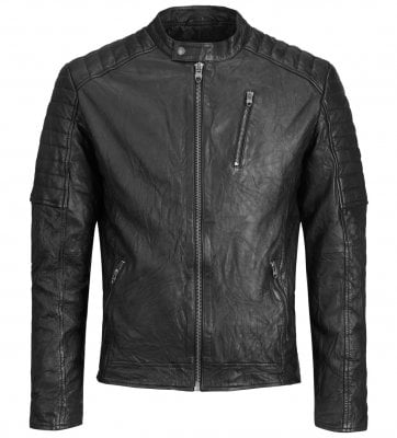 Black leather jacket mens 1