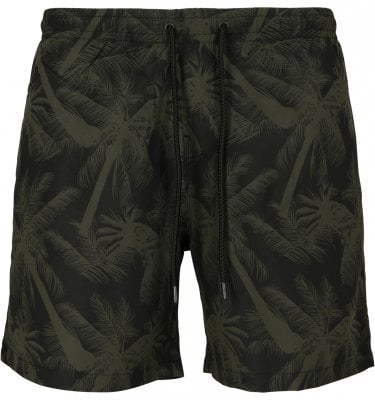 Black shorts with palm trees men 1
