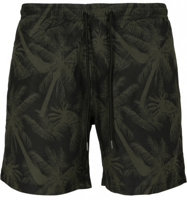 Black swim shorts with palm trees plus size 1