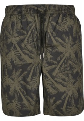 Black shorts with palms mens 1