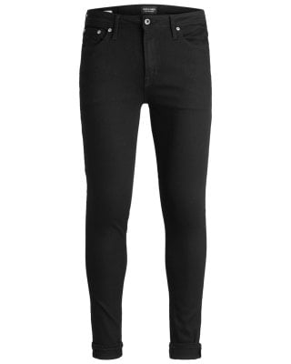 Black slim fit jeans men 1