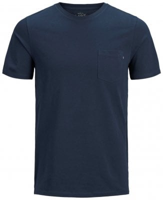 dark blue T-shirt with breast pocket men