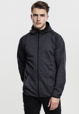 Active Melange Zip Hoody black
