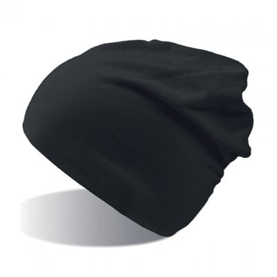 Black Thin cotton beanie