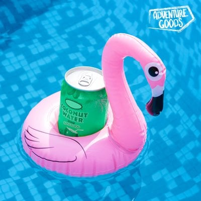 Adventure Goods Flamingo Inflatable Can Holder