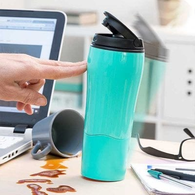 Anti-Tipping Thermos Mug
