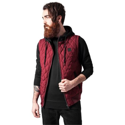 Diamond Quilted Hooded Vest