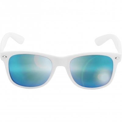Wayfarer sunglasses mirror glass white bows 1