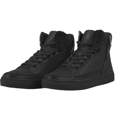 Zipper High Top Sko Svart Fram
