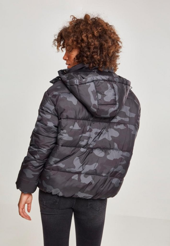 Ladies Boyfriend Camo Puffer Jacket Jackets Womens