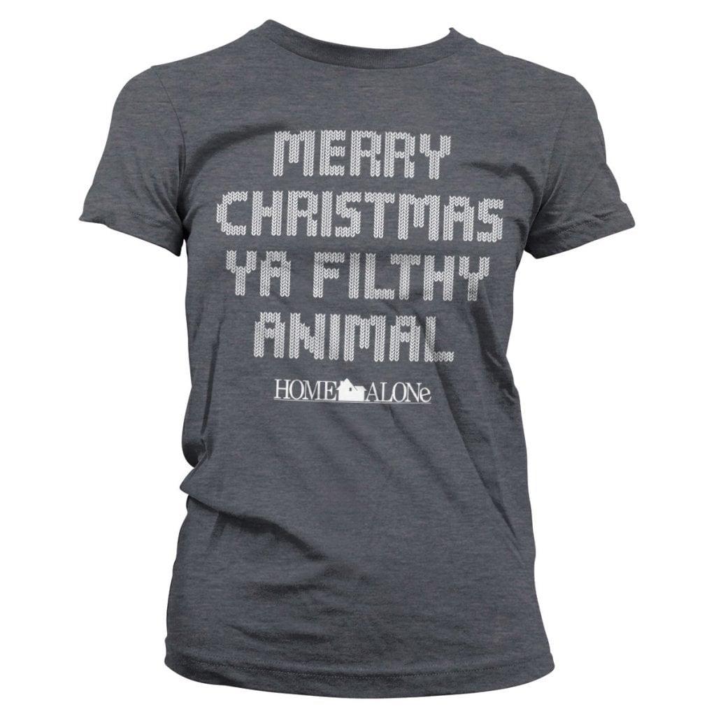 Merry christmas ya filthy animal tjej T shirt
