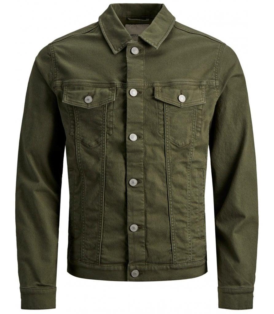 Olive denim jacket men Jackets Mens