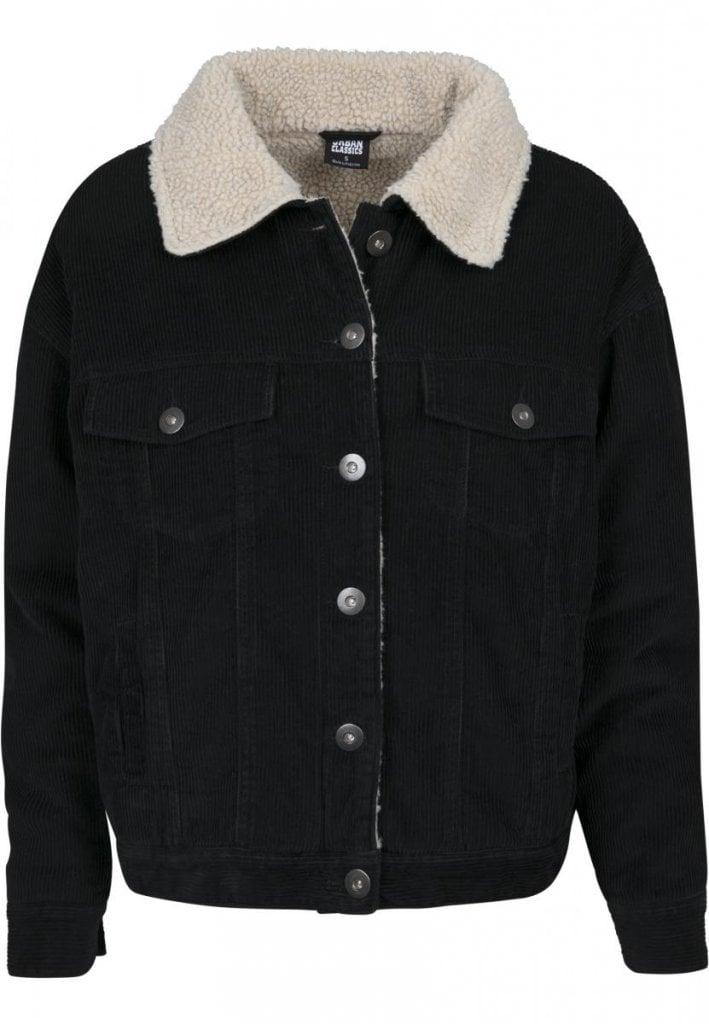 Ladies Oversize Sherpa Corduroy Jacket Jackets Womens