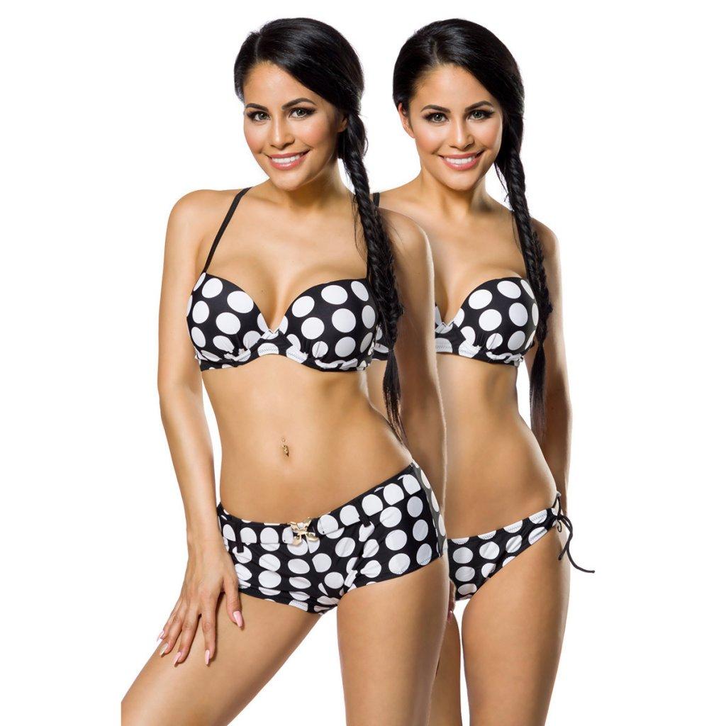 svart vit bikini