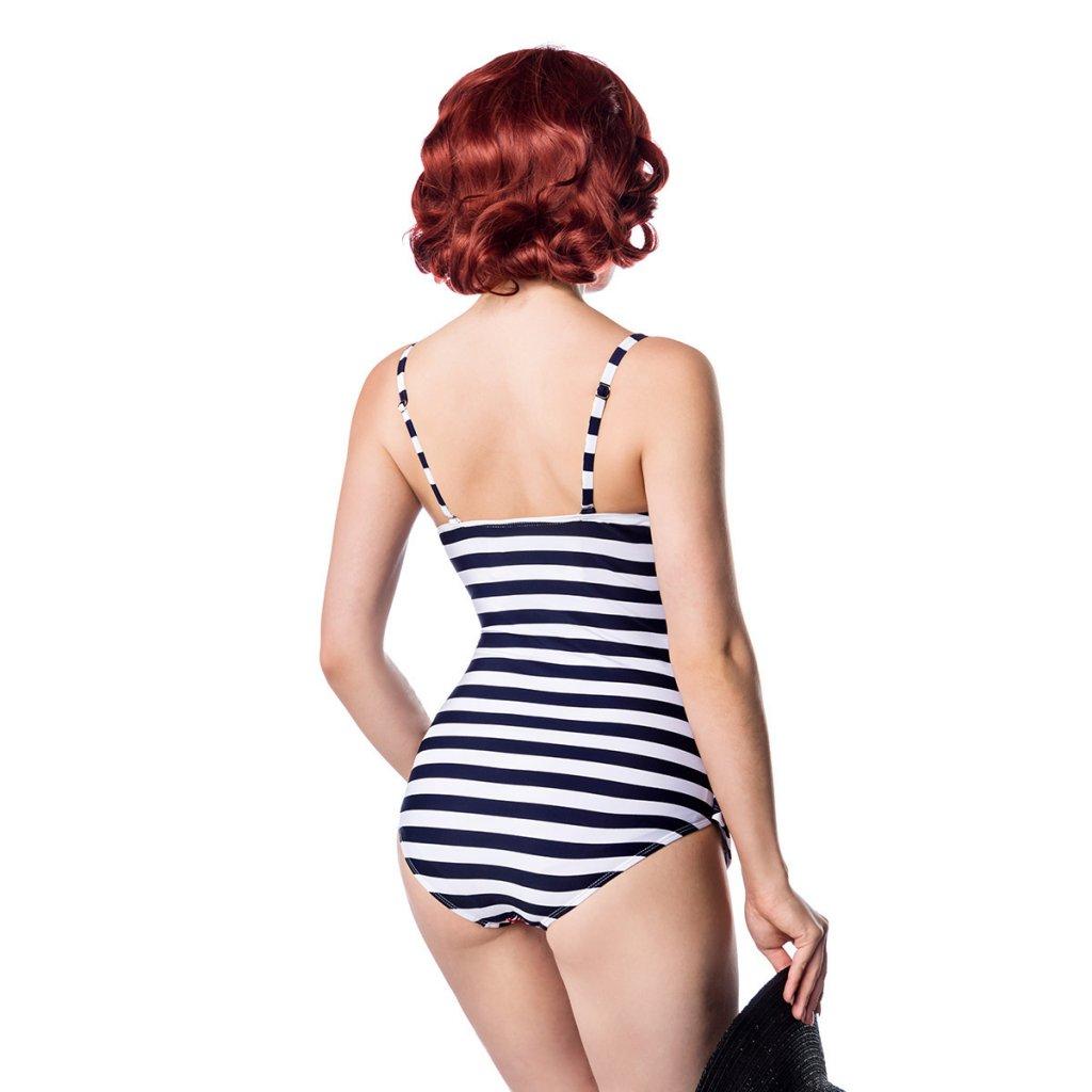 482a55282150 Retro Swimsuit Striped - Swimwear - Womens - Oddsailor.com