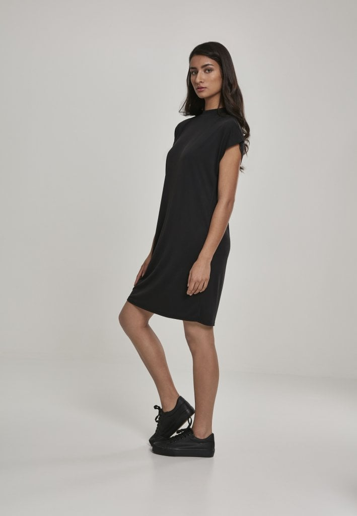 Black knee length dress Korta klänningar Dresses