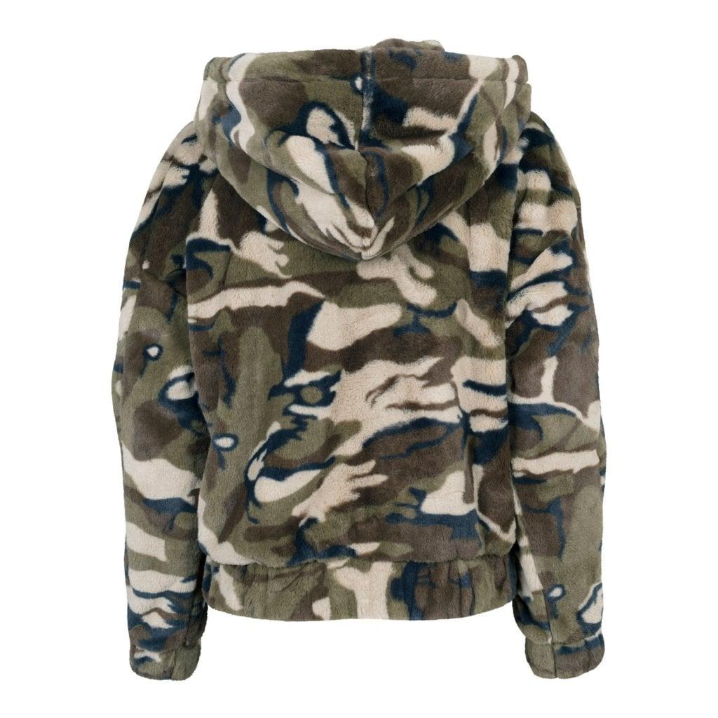 camouflage vinterjacka dam